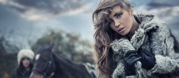Pretty Woman with Horse